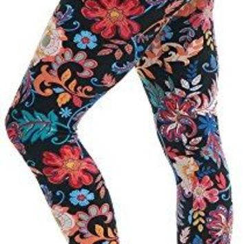 LMB Lush Moda Extra Soft Leggings with Designs Variety of Prints