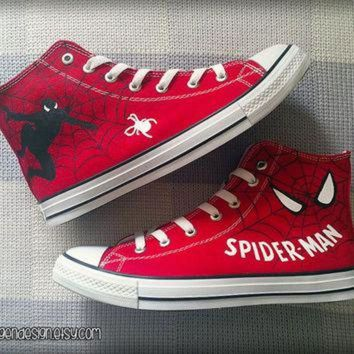 VONR3I Spider-Man Custom Converse / Painted Shoes