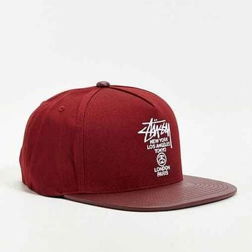 Stussy World Tour Snapback Hat