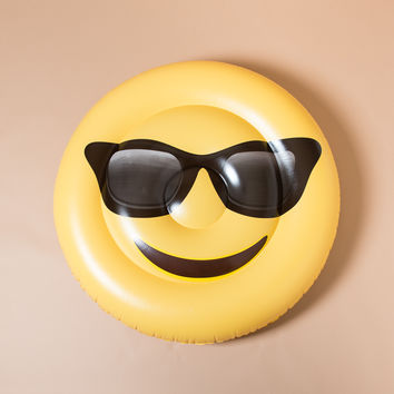 Emoji Sunglass Yellow Pool Float