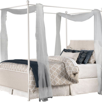 1999 McArthur Canopy Bed Set - Off-White Finish - King - Bed Frame Included - Free Shipping!