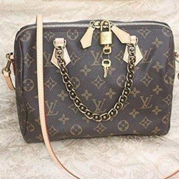 ESB2N Loui Vuitton LV Chain Speedy 25 handbag Tagre-