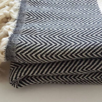 100 % Cotton blanket - Woven Throw Blanket - Herringbone Cover Blanket - Large Family Picnic Blanket - Fashion Home linen