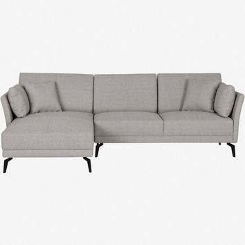 RENATA SECTIONAL LEFT CHAISE GREY