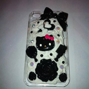 Kawaii whipped clay cream decoden black and by GlitznGlamour65