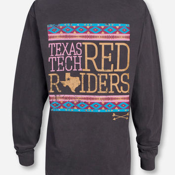 Texas Tech Golden Arrow on Charcoal Long Sleeve - Red Raiders
