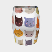 cats groups Fitted Skirt
