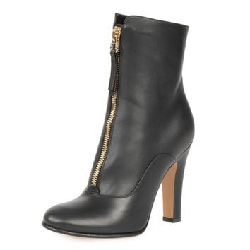 Valentino Sugar Goatskin Leather Ankle Boots | Black | Size 36