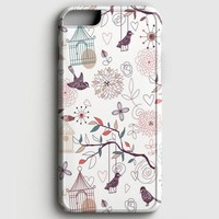 Vintage Birds Patterns iPhone 7 Case
