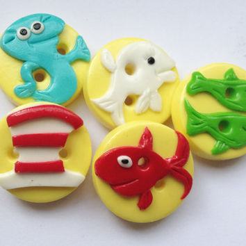 Dr Seuss  One fish Two fish Red fish Blue fish polymer by ayarina