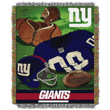 "NY Giants  """"Vintage"""" 48x60 Tapestry Throw"