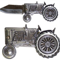 Diecast TRACTOR Pocket Knife