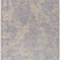 Surya Transcendent Medallion and Damasks Area Rug Blue, Gray