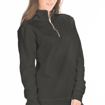 Gerad- Women's Boyfriend-Fit Fleece 1/4 Zip Up Full Sleeve O-Neck Stylish Premium Sweatshirt