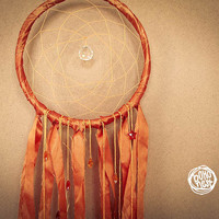 Dream Catcher - Stars - With Sparkling Crystal Prism and Small Colorful Stars - Boho Home Decor, Nursery Mobile