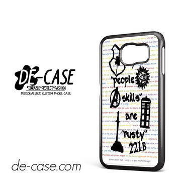 Herlock Supernatural And Dean And Cas DEAL-5261 Samsung Phonecase Cover For Samsung Galaxy S6 / S6 Edge / S6 Edge Plus