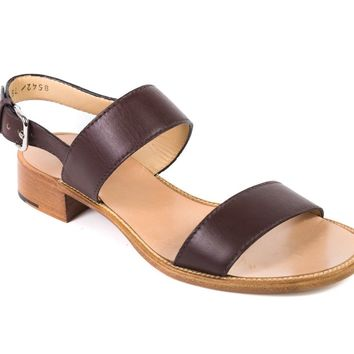 Church's Women's Brown Leather Cross Strap Sandals