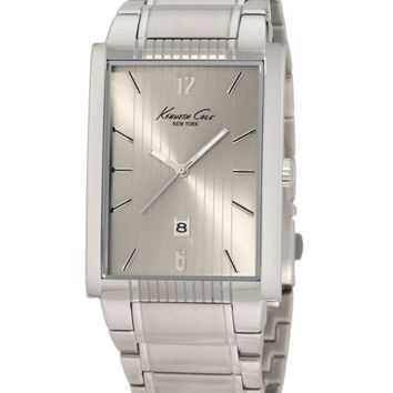 Kenneth Cole KC3922 Men's Rectangular Stainless Steel Silver Dial Watch