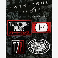Licensed cool 21 Twenty One Pilots Symbols Logo Blurryface Embroidered IRON ON Patch Badge Set