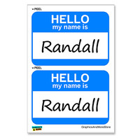 Randall Hello My Name Is - Sheet of 2 Stickers