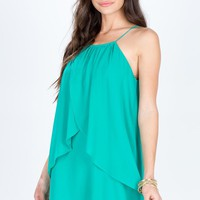 Halter Flyaway Shift Dress