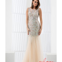 Preorder - Jasz Couture 5664 Champagne & Gold Sleeveless Mermaid Long Dress 2016 Prom Dresses