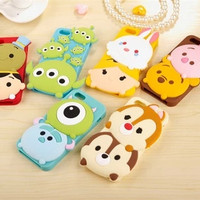 Cute 3d cartoon case lovely sulley stitch Chip&Dale Winnie Pooh soft silicone cover for iPhone 5 5s 6 6s 4.7 5.5 inch plus