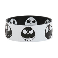 The Nightmare Before Christmas Jack Heads Reversible Rubber Bracelet