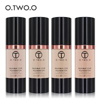 O.TWO.O Brand Liquid Foundation Matte Weightless Ultra Liquid Makeup Face Foundation Brighten Concealer Base Foundation Cream
