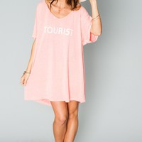 Benji Tunic Tee ~ Tourist Graphic