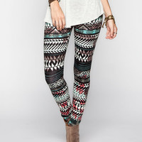 Full Tilt Ethnic Arrow Womens Leggings Multi  In Sizes