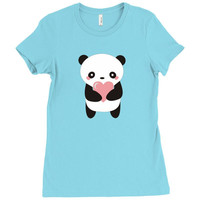 Hawaii Panda Love Ladies Fitted T-Shirt