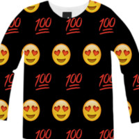 Emoji Long-Sleeve Shirt created by trilogy-anonymous | Print All Over Me