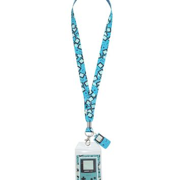Licensed cool Nintendo Gameboy Color Lanyard Neckstrap With Metal Charm & Collector Sticker