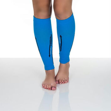 Remedy Calf Compression Running Sleeve Socks - XLarge - Blue