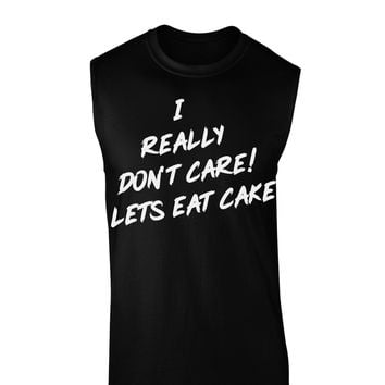Funny Melania Satire Let Them Eat Cake Dark Muscle Shirt  by TooLoud