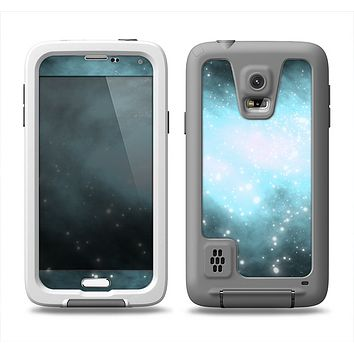 The Bright Blue Vivid Galaxy Samsung Galaxy S5 LifeProof Fre Case Skin Set