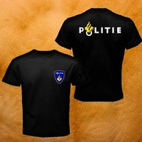 New Dutch Netherland Special Politie Bouncer Event Party Black Men T-Shirt S-3XL