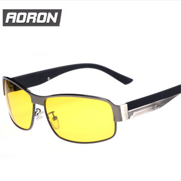 Anti-glare Glasses Polarized Night Vision Goggles Metal Night Vision Glasses Polarized UV400 Driving Men Sunglasses Automobile