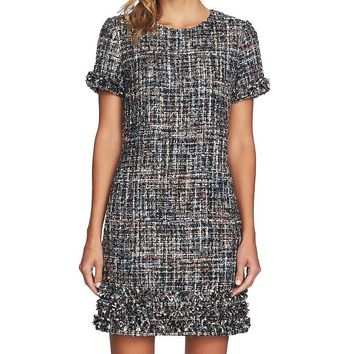 CeCe Multi-Tweed Shift Dress | Dillard's