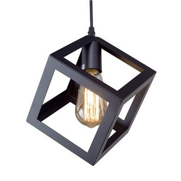 LNC Square Pendant Lighting, Ceiling Hanging Light Fixtures