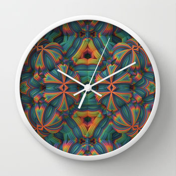 Crazy Crochet Wall Clock by Lyle Hatch