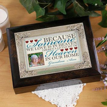 Music Box Memorial-Because Someone We Love is in Heaven
