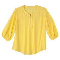 Women's Plus-Size Zipper Front Top - Assorted Colors