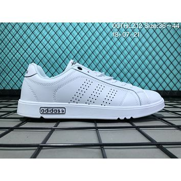JIJS2 A042  EQTsh NEOER Leather Punching Breathable Casual Skate Shoes White Black