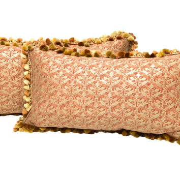 Fortuny Fabric Pillows, Pair