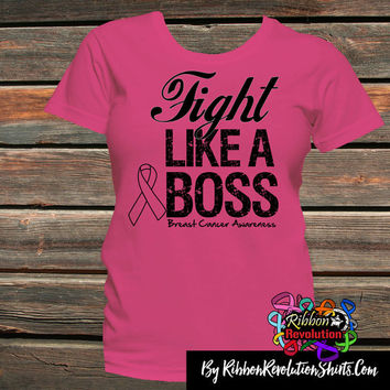 Fight Like a Boss Breast Cancer Shirts