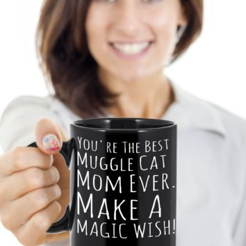 Cat Mug Black Coffee For Kitten Lovers Ideas For Gifts For Cat Muggle Mom Dad Microwave Safe pba Free Ceramic Cup Muggles Kittie Moms