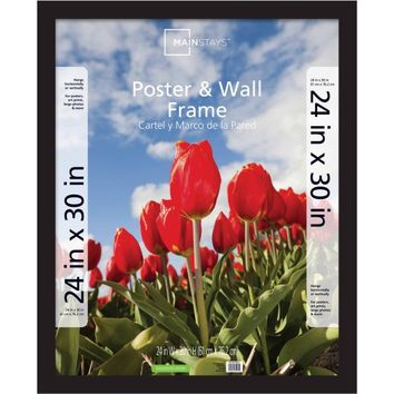 Mainstays 24x30 Wide Gallery Poster and Picture Frame, Black - Walmart.com