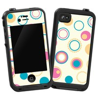 """Retro Pink and Blue """"Protective Decal Skin"""" for LifeProof iPhone 4/4s Case"""